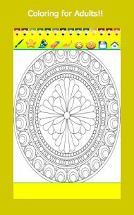 Mandala Coloring Book Adult Stress Free Game