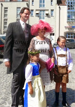 Photo: the grooms sister Pricness Clotilde of Orleans with her  husband Edouard Crepy and children Augustin and Eleonore