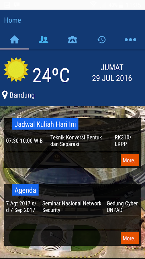 Unpad Mobile- screenshot