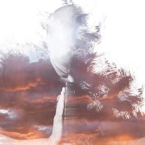PRAYER by Jonathan Stolarski - Digital Art People ( photoshop art, model, double exposure, sunset, portrait,  )