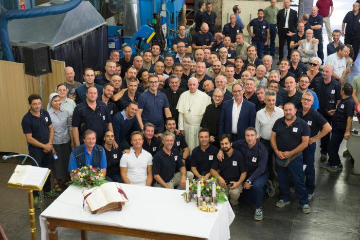 Thánh lễ cho các công nhân của Trung tâm Công nghiệp Vatican