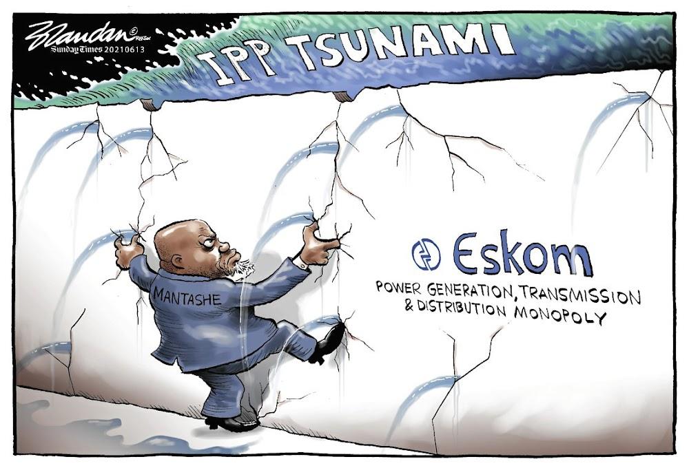 Gwede Mantashe, Eskom struggle to contain incoming 'IPP tsunami'