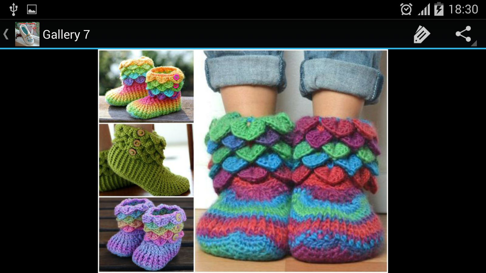 Crochet Pattern Slippers- screenshot