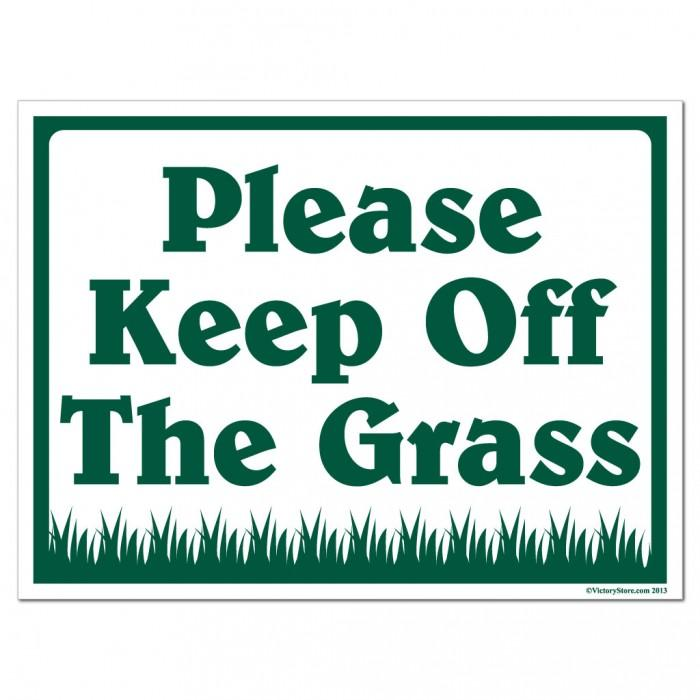 Image result for please keep off the grass