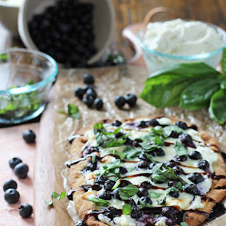 Blueberry Basil Ricotta Flatbreads.