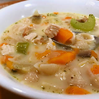 Creamy Turkey Vegetable Soup.