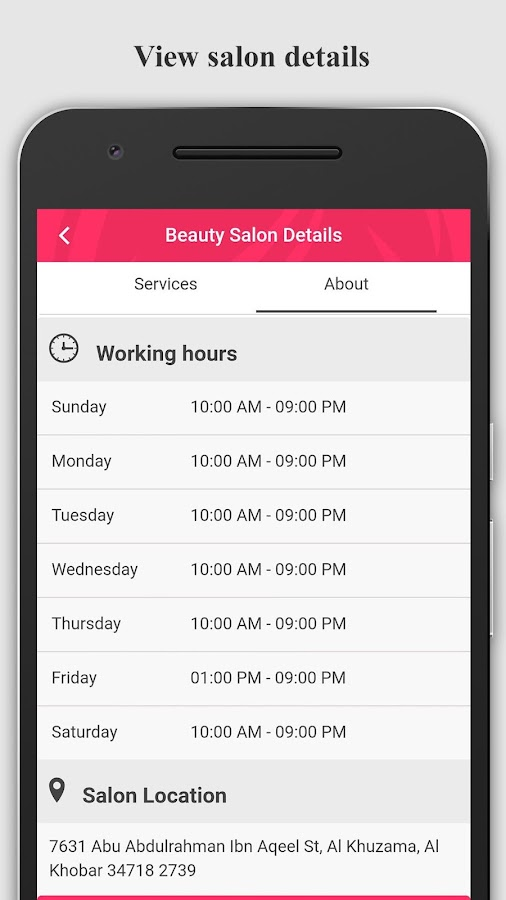 Venus - Beauty Salons Booking- screenshot