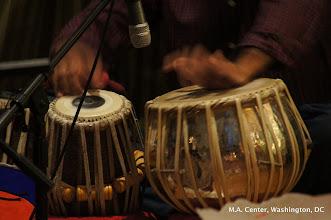 Photo: Prem on the tabla
