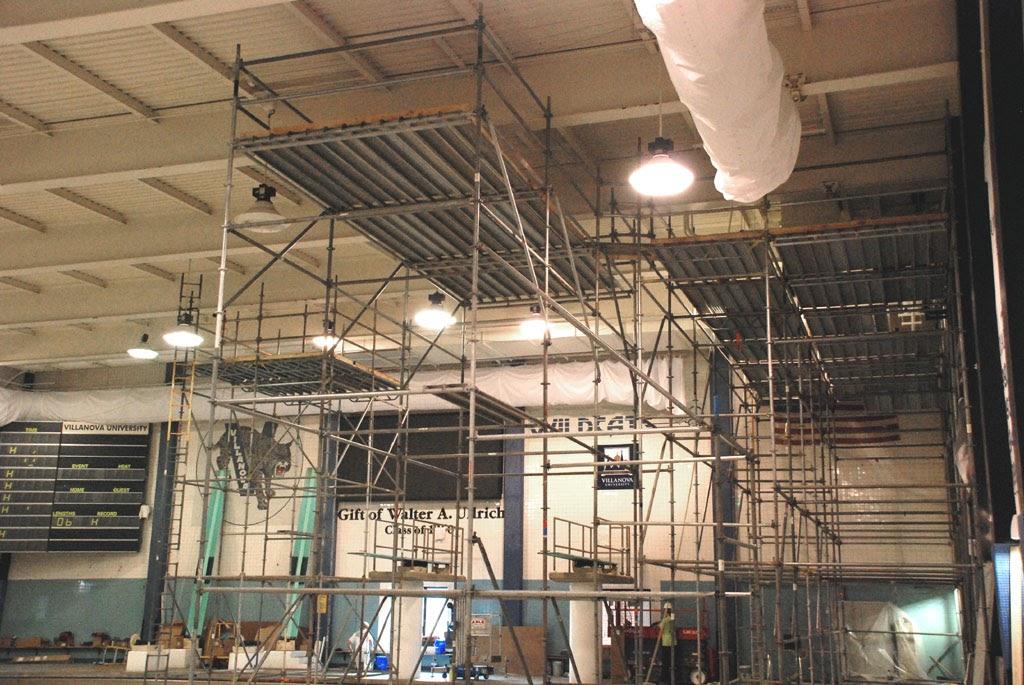 Championship Scaffolding Work Platform at Villanova University