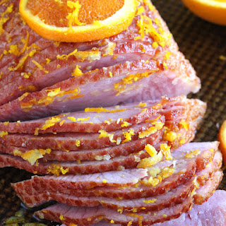 Slow Cooker Brown Sugar Ham with Orange Glaze Recipe