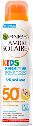 Ganier Ambre Solaire Kids Sensitive Anti-Sand Sun Cream Spray - SPF50+, 200ml
