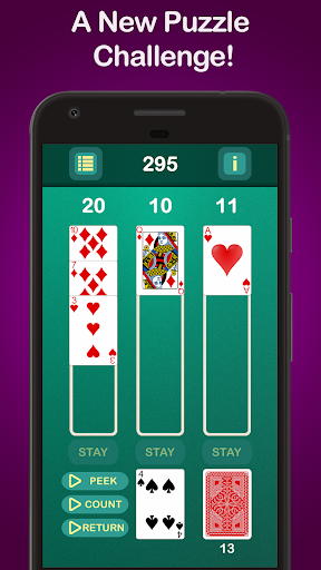 Puzzle 21 - Blackjack Solitaire Hybrid 1.001 screenshots 1