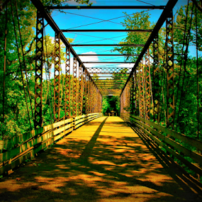 Zoar Bridge by Paul S. DeGarmo - Buildings & Architecture Bridges & Suspended Structures ( colorful, bridge, suspended, stucture, zoar,  )