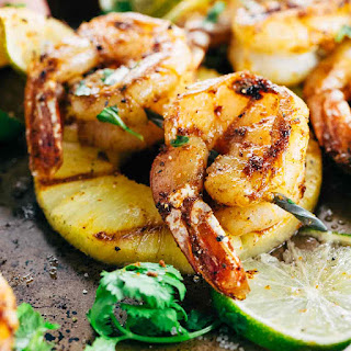 Grilled Shrimp Skewers with Pineapple Sauce