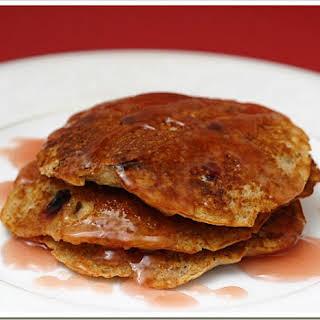 Oat Bran Cranberry Pancakes.