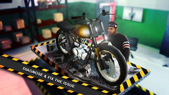 Motorbike Mechanic Simulator Bike Garage Games Screenshot Thumbnail