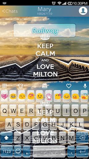 Railway Emoji Keyboard Theme