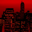 Red Sky New York City LWP icon