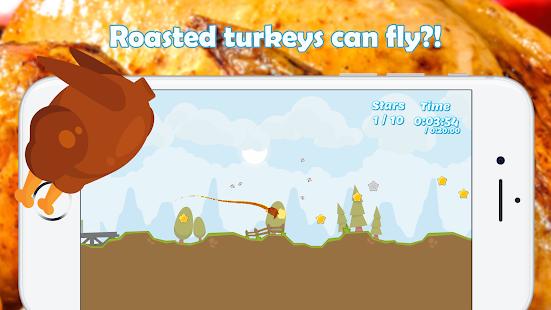 Thanksgiving Flying Turkey - náhled