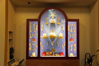 Photo: Et andet relikvieskab, hvor bl.a. St. Gudulas hovedskal er. Gudula er helgen for Belgien/Bruxelles