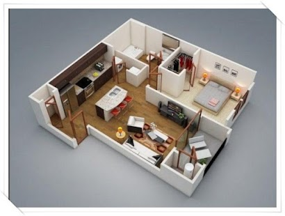 3d small house layout design screenshot thumbnail