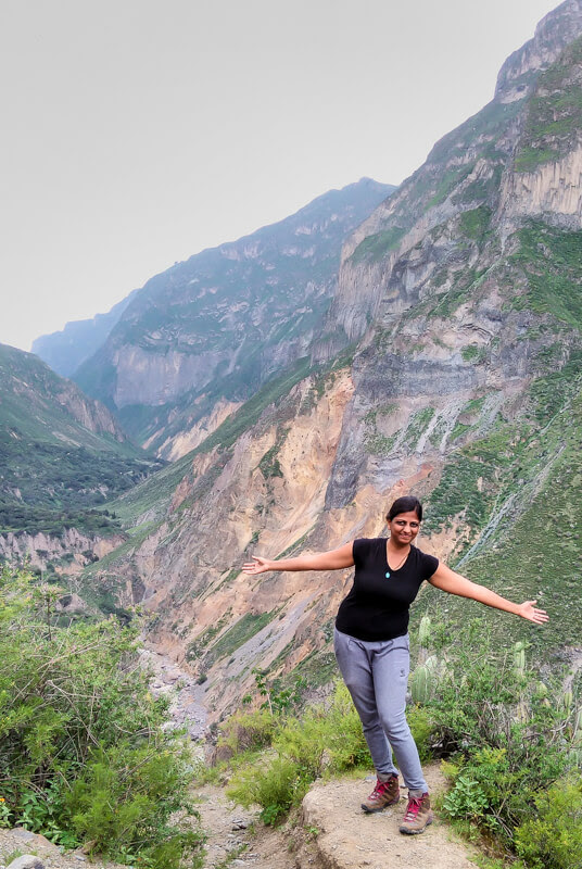 enjoying the Colca canyon hike