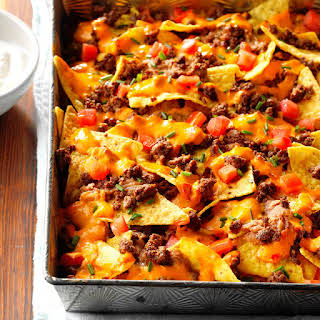 Queso Baked Nachos.