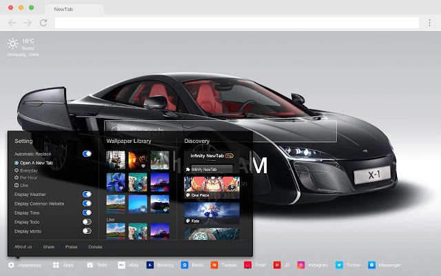 McLaren New Tab Page HD Popular Cars Themes