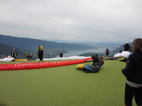 Photo: Take a number to launch . . . note windsock cross & down