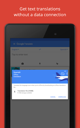 Screenshot 12 for Google Translate's Android app'