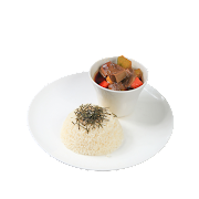 Stewed Beef Tongue in Sake Soy Sauce with Rice