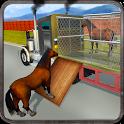 Wild Horse Zoo Transport Truck Simulator Game 2018 icon