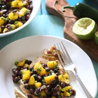 Grilled Chicken with Black Bean Mango Salsa.