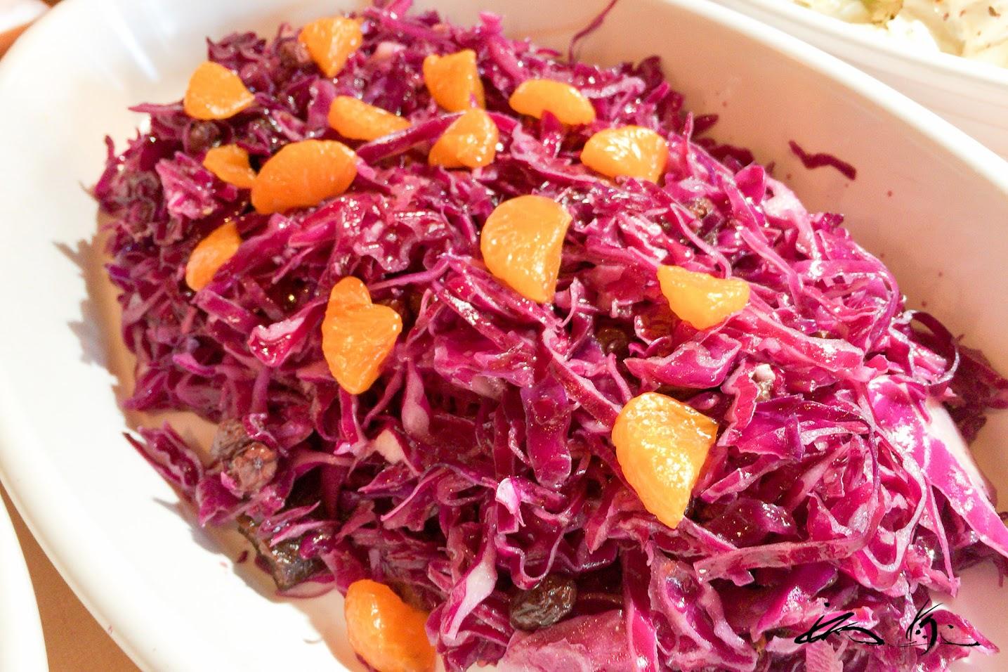 紫キャベツのオレンジサラダ