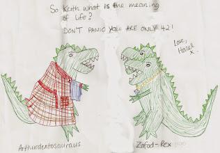 Photo: Hazel's Hitchosaurs aren't panicking.