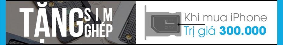 Tặng sim ghép khi mua iPhone Lock tại MobileCity