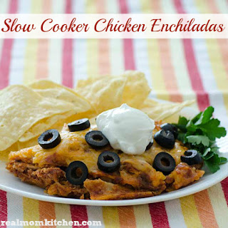 Slow Cooker Chicken Enchiladas.