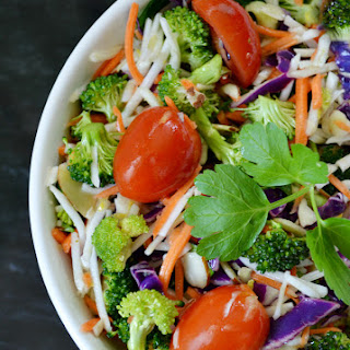 Broccoli Slaw with Citrus Dressing.