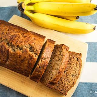 Healthy Cinnamon Banana Bread.