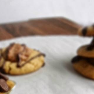 Peanut Butter & Chocolate Thumbprint Cookies.