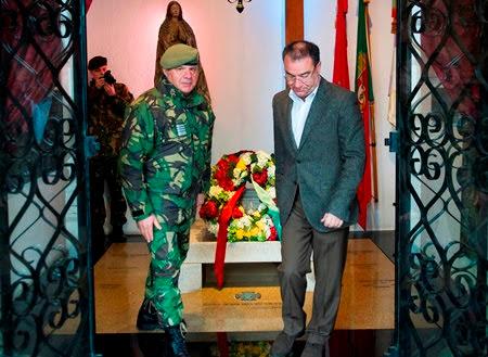 Ângelo Moura homenageou soldados mortos na I Guerra Mundial