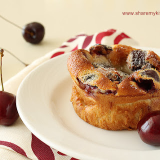 Mini cherry clafoutis with Amaretto