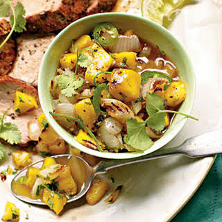Grilled Sweet Onion-and-Mango Chutney.