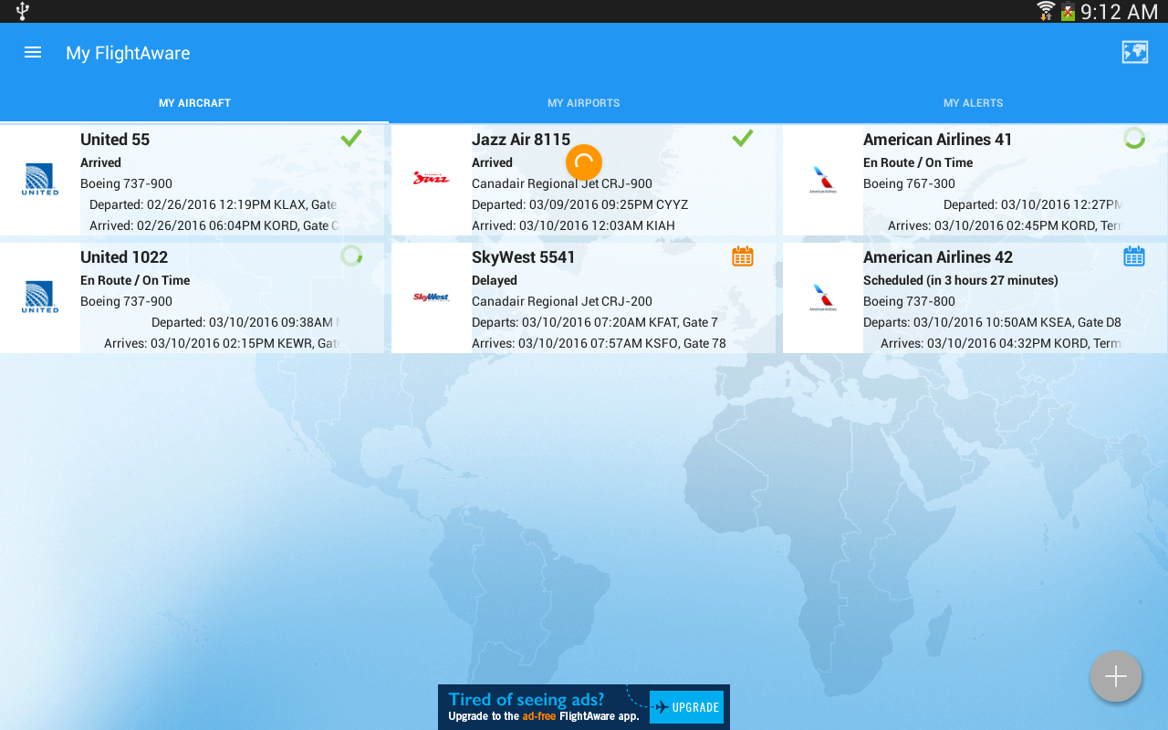 FlightAware Flight Tracker- screenshot