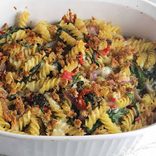Vegetarian Baked Pasta with Spinach and Gruyère.