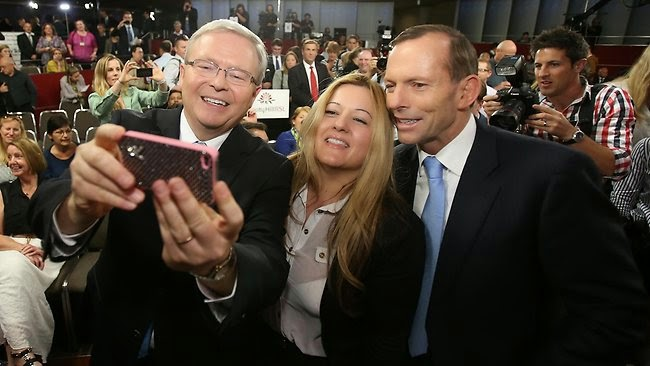Kevin Rudd, Tony Abbott and Nada Makdessi
