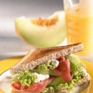 Melon-Ham-Sandwich (Diabetiker)