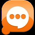 Easy SMS solid Orange theme icon