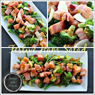 Festive Ham Salad with Mustard Vinaigrette