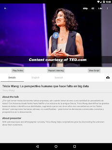 TEDlang - Learn English Videos for TED Talks Screenshot